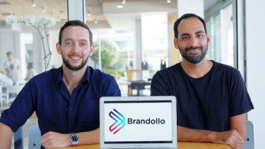 Co-founders of Brandollo Brian McCarthy and Marco Muscat (R).
