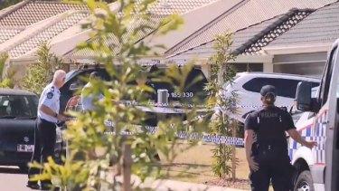 The crime scene in Gleneagle where a homicide investigation is under way.