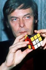 Erno Rubik, pictured with a Rubik's Cube in 1981.