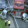 Miracle on the Monash: Motorists escape with minor injuries in horrific freeway pile-up