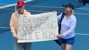 John McEnroe and Martina Navratilova.