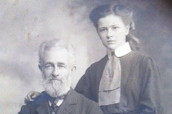 Thomas Clancy with his daughter Annie, who was Gerald Taylor's mother. According to family lore, Thomas was the inspiration behind Banjo Paterson's Clancy of The Overflow.