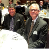 Mayor Allan Sutherland and Greg Hoffman at a Property Council event in 2015.