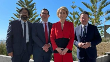 The Liberal party's senate ticket for WA: Sherry Sufi, Ben Small, Employment Minister Michaelia Cash and government whip in the Senate Dean Smith.