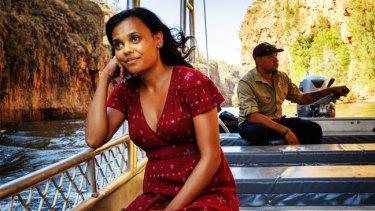 Miranda Tapsell, on a rom-com road trip, journeys down Katherine's Nitmiluk Gorge.