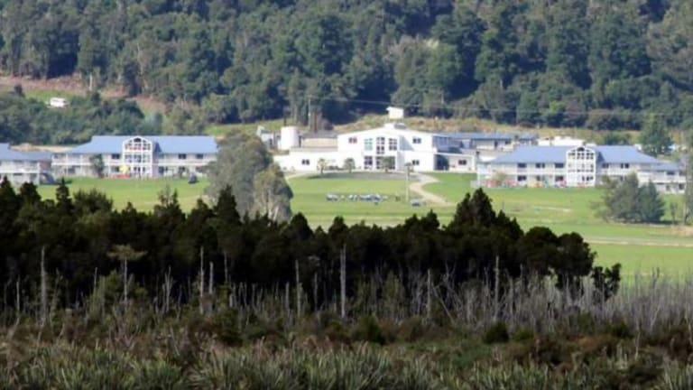 The Gloriavale Christian Community, across from Lake Haupiri, on the West Coast of the New Zealand South Island.