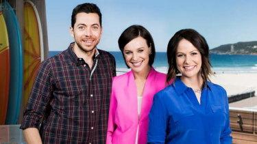 Natasha Exelby, right, with hosts James Mathison and Natarsha Belling.