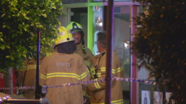 Firefighters were called to a house connected to the Widford Street shop in Glenroy about 9.45pm.