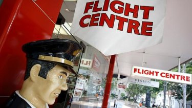 Flight Centre's shares are down 13 per cent.
