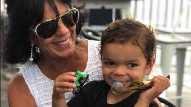 Gai Vieira and her grandson.