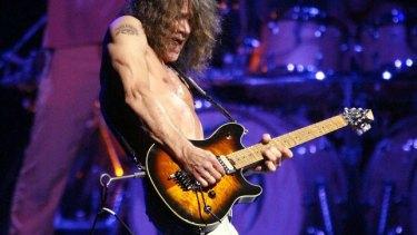 Eddie Van Halen performing in Los Angeles in 2004.