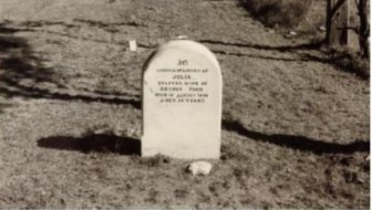 Julia Ford's grave at Deebing Creek in the 1940s.