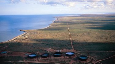 Barrow Island, the site of Chevron's $55 billion Gorgon project.