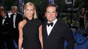 Lachlan Murdoch, pictured with wife Sarah.