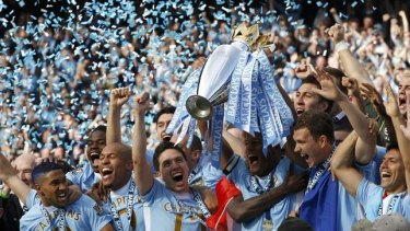 Boosted by Sheikh Mansour's money, Manchester City won their first top-flight title in 44 years in 2012.