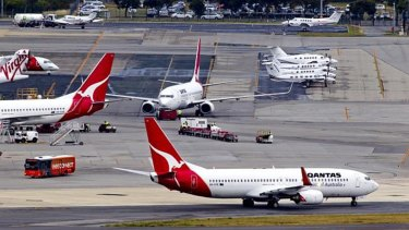 Qantas chief Alan Joyce will meet with Perth Airport staff on Wednesday.