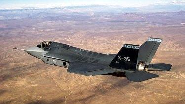 An F-35 Joint Strike Fighter in flight.