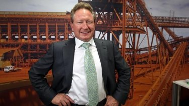 "Fortescue Metals Group chairman Andrew ""Twiggy"" Forrest."