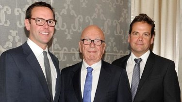 Rupert Murdoch's two sons James (left) and Lachlan (right) no longer have to share management of the enterprise.