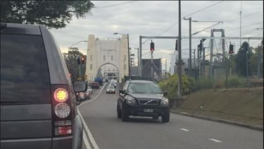 Traffic on Indooroopilly's Walter Taylor Bridge.
