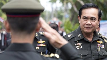Thailand's Prime Minister Prayuth Chan-ocha pictured when chief of the Army in 2014.