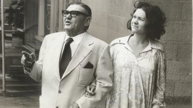Gina Rinehart with her late father Lang Hancock.
