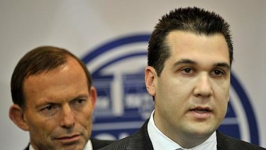 Michael Sukkar with Tony Abbott.