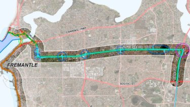 Image of the proposed Leach Highway upgrade included as an option in a Westport taskforce report.
