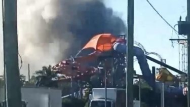 A fire has broken out at the Big Brother house at Coomera on the Gold Coast.