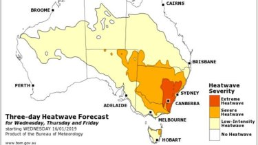 Sydney is expected to feel the brunt of the heat on Friday as temperatures peak.