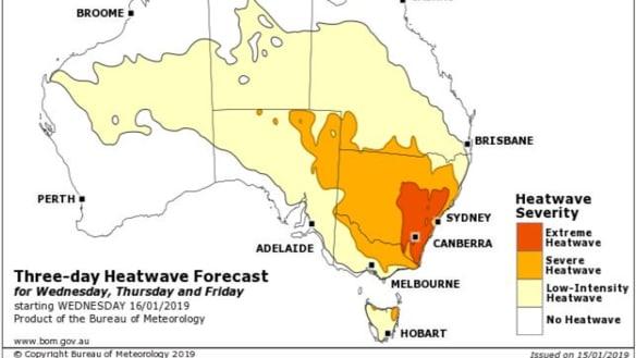 Roads melt as temperatures break records across NSW