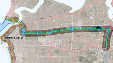 Image of the proposed Leach Highway upgrade included in the report.