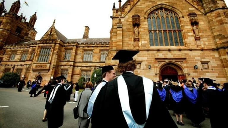 More graduates are in full-time work four months after finishing their degrees.