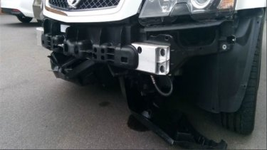 Damage to Comcars from bollards at the Senate entrance to Parliament House, released under Freedom of Information.