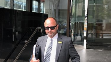 Barry Urban outside court after an earlier hearing.