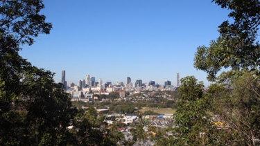 Brisbane's CBD as seen fromEildon Reserve