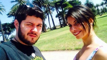 Alberto Paulon, who was killed in an accident on Sydney Road, and his fiancee, Cristina Canedda.