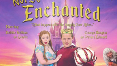 The poster for Burgess' Not So Enchanted stage production.