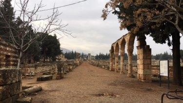 The Road to Damascus in Anjar, Lebanon.