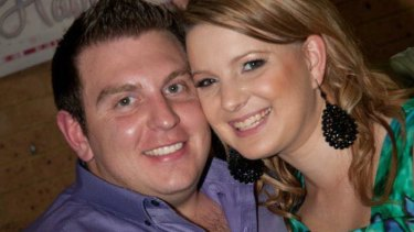 Joshua Paroci, pictured with his wife, died in the rafting accident on the weekend.