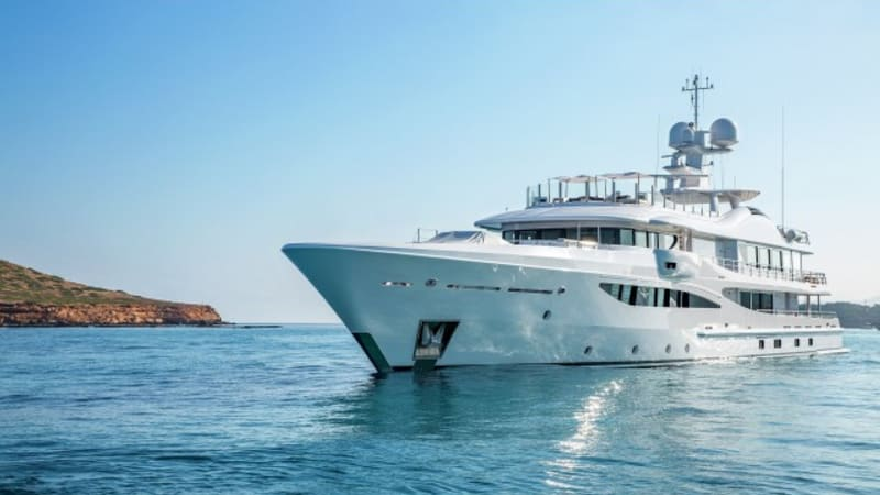 The 55-metre long superyacht that's 'too small for James Packer'