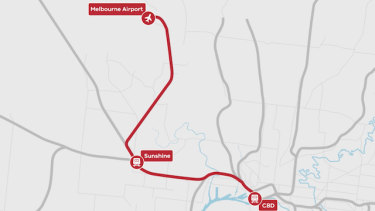 Proposed airport rail Sunshine route.