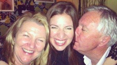 Julie Williamson (left) with daughter Alex Williamson and ex-husband Michael Williamson.