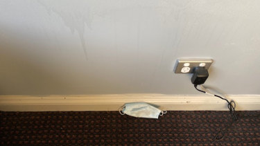A returned traveller quarantined at Rydges found a discarded face mask on the floor of his room when he checked in.