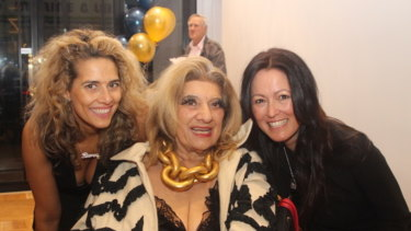 Bianca Venuti, Maria Venuti and Julie Singleton at the Geniale launch.