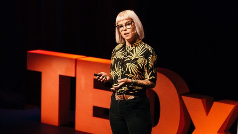 Speaker Kristina Wild at last year's TEDxBrisbane event.
