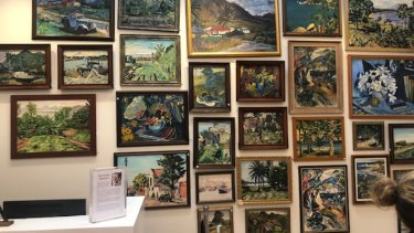 """Some of the """"Noel Wood"""" works withdrawn from sale by the auction house Leonard Joel."""