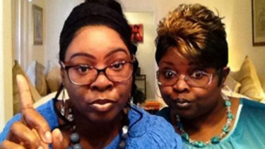 US video personalities and Donald Trump supporters Diamond and Silk.