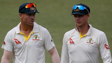 Counting down the days. David Warner and Steve Smith are nearly eligible to play for Australia again.