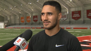 Valentine Holmes has been praised for his natural ability at the NFL international pro day.